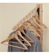 Вешалки настенные и плечики деревянные