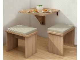Откидной столик и два табурета Mesa Plegable арт.67151-381