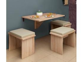 Откидной столик и три табурета Mesa Plegable арт.67161-381