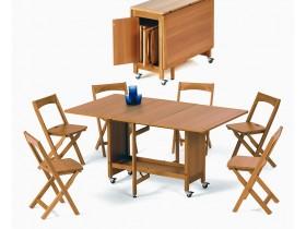 Стол-книжка со стульями INDACO, комплект
