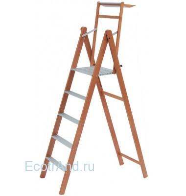 Стремянка с широкими ступенями Upper-5