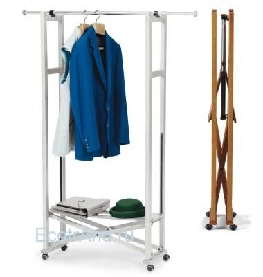 Вешалка напольная на колесиках для одежды Elios
