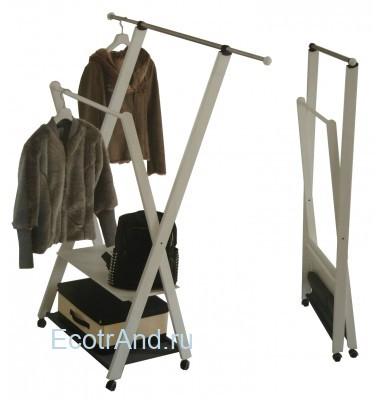 Вешалка напольная на колесиках для одежды ParsiFal